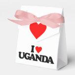 I LOVE UGANDA PARTY FAVOR BOX