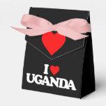 I LOVE UGANDA PARTY FAVOR BOXES