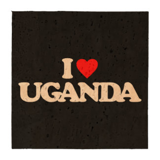 I LOVE UGANDA DRINK COASTER