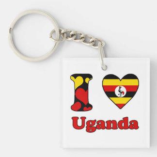 I love Uganda Single-Sided Square Acrylic Keychain