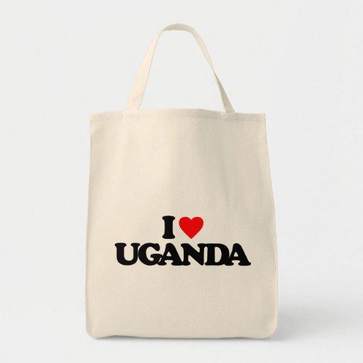 I LOVE UGANDA TOTE BAGS