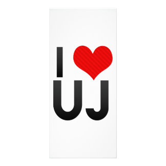 I Love UJ Rack Card Design
