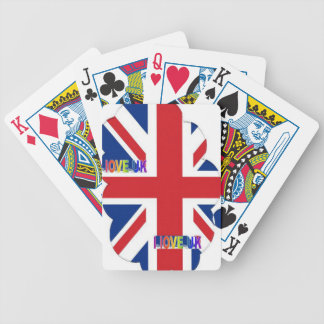 I LOVE UK BICYCLE PLAYING CARDS
