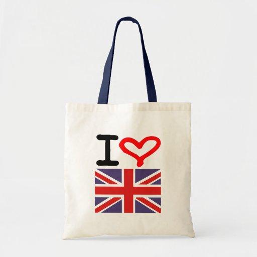 I love UK Budget Tote Bag