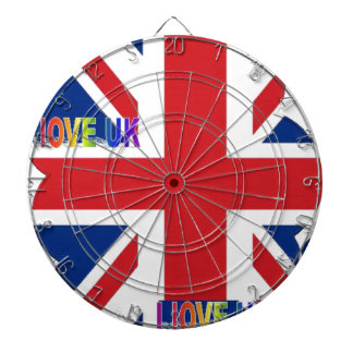 I LOVE UK DARTBOARD