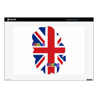 """I LOVE UK DECALS FOR 15"""" LAPTOPS"""