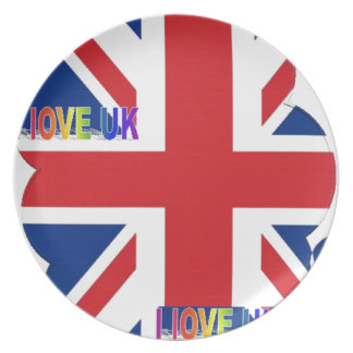 I LOVE UK DINNER PLATE