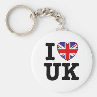 I Love UK Key Chain