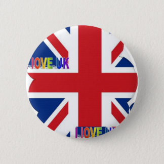 I LOVE UK PINBACK BUTTON
