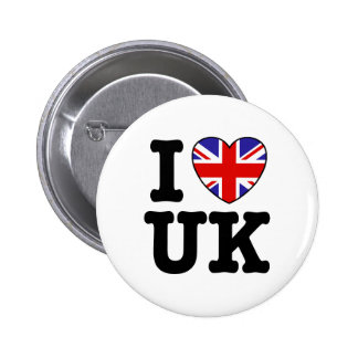 I Love UK Pinback Button