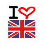 I love UK Post Card