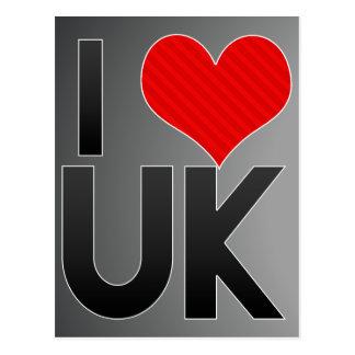 I Love UK Postcard