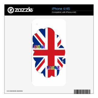 I LOVE UK SKIN FOR THE iPhone 4S