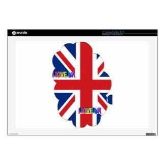 """I LOVE UK SKINS FOR 17"""" LAPTOPS"""