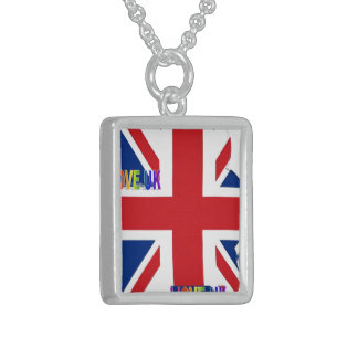 I LOVE UK STERLING SILVER NECKLACE