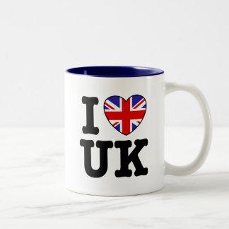 I Love UK Two-Tone Coffee Mug