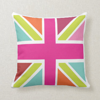 I love UK - Union Jack Throw Pillow