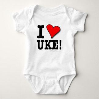 I Love UKE Baby T Baby Bodysuit
