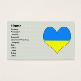 I Love Ukraine Business Card