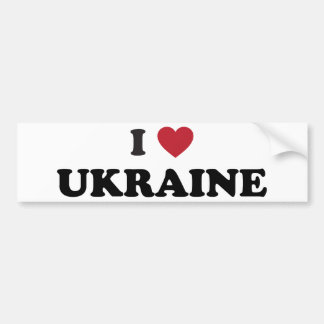 I Love Ukraine Car Bumper Sticker