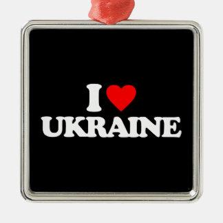 I LOVE UKRAINE CHRISTMAS ORNAMENTS