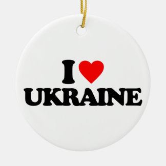 I LOVE UKRAINE CHRISTMAS TREE ORNAMENT