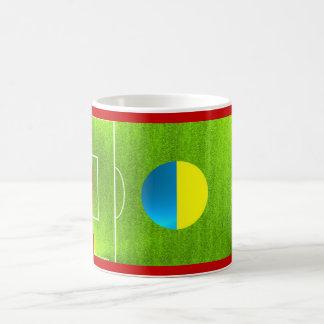 I Love Ukraine football soccer flag mug