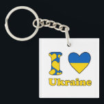 "I love Ukraine Keychain<br><div class=""desc"">I love Ukraine I love key-ring Ukraine.</div>"