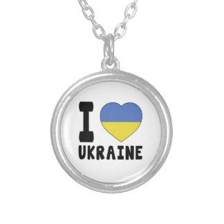 I Love Ukraine Personalized Necklace
