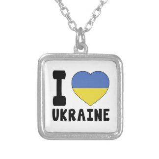 I Love Ukraine Custom Necklace