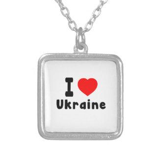 I Love Ukraine. Personalized Necklace