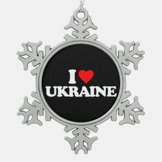 I LOVE UKRAINE ORNAMENT