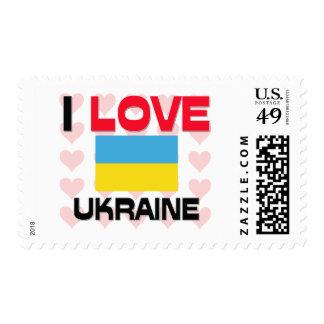 I Love Ukraine Postage