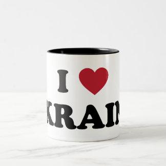 I Love Ukraine Two-Tone Coffee Mug