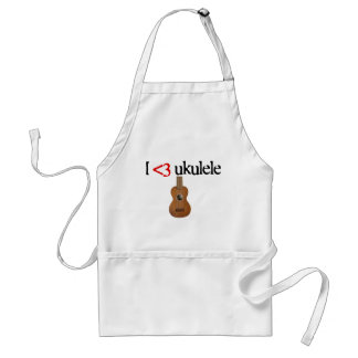 I love ukulele adult apron