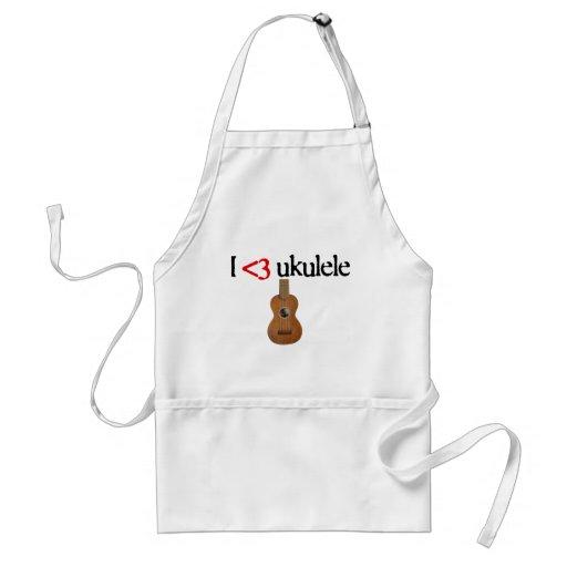 I love ukulele adult apron