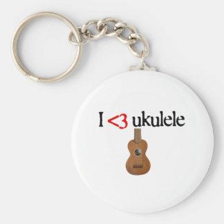 I love ukulele keychain