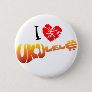 I Love Ukulele Pinback Button