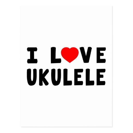 I Love Ukulele Postcards