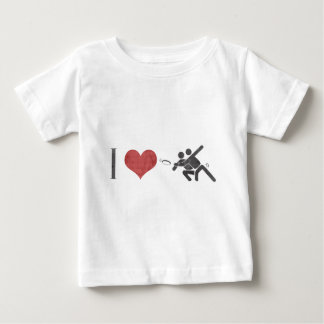 I Love Ultimate Frisbee Baby T-Shirt