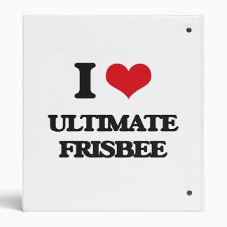 I Love Ultimate Frisbee 3 Ring Binders