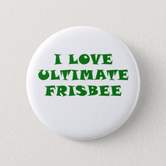 I Love Ultimate Frisbee Button