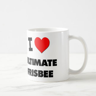 I Love Ultimate Frisbee Classic White Coffee Mug