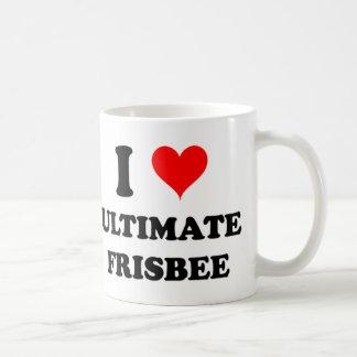 I Love Ultimate Frisbee Coffee Mugs