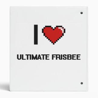 I Love Ultimate Frisbee Digital Retro Design Binders