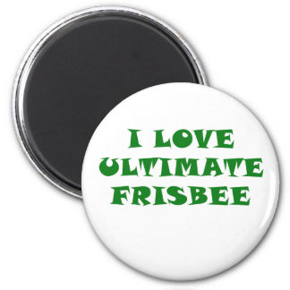 I Love Ultimate Frisbee Magnet