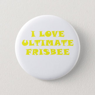 I Love Ultimate Frisbee Pinback Button