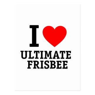 I Love Ultimate Frisbee Postcard