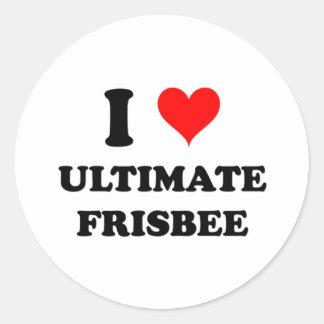 I Love Ultimate Frisbee Sticker
