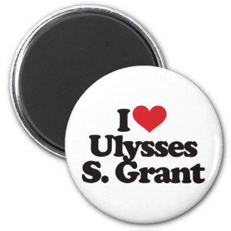 I Love Ulysses S Grant 2 Inch Round Magnet